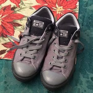 Army green and black Converse. Women's size 8.